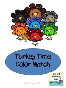 Color Words (Turkeys)