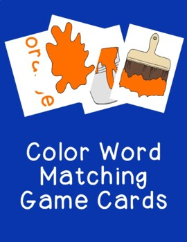 Color Words Matching Cards Games Activities PDF Printable