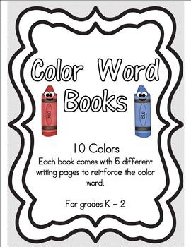 Color Words Mini Books
