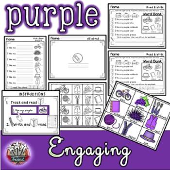 Color Words: PURPLE {sight words, simple sentences, vocabu