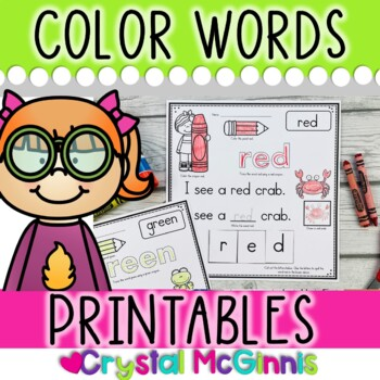 Color Words Printables (Trace it, Draw it, Write it, Read