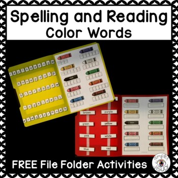Color Words Reading and Spelling File Folder Activities