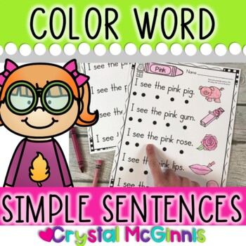 Color Words (Simple Predictable Sentences for Beginning Readers)