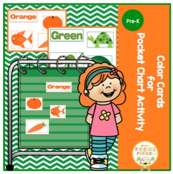 Color Words and Picture Cards for Pocket Chart Activity