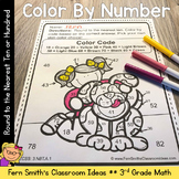 Color By Numbers Round to the Nearest Ten or Hundred Color