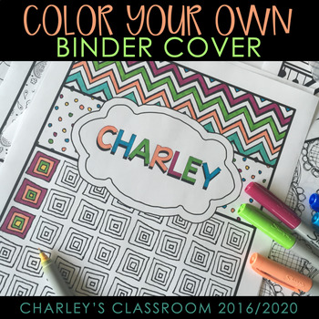 Binder Covers {Color Your Own}