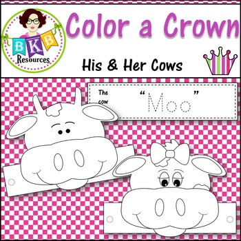 Color a Crown - His & Her Cows
