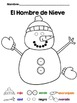 Color a Snowman in Spanish {Frebbie}