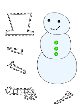 Color and Cut Snowman