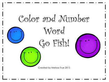 Color and Number Word Go Fish