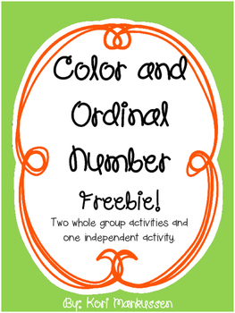 Color and Ordinal Number FREEBIE