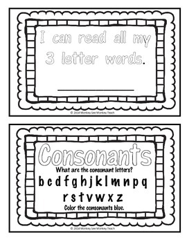 High Frequency Words Color and Read  ( 3 Letters)