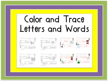 Color and Trace Letters and Words