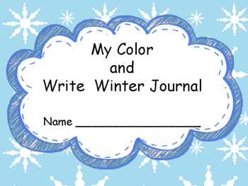 Color and Write Winter Journal