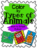Back to School Color by Animal Classification