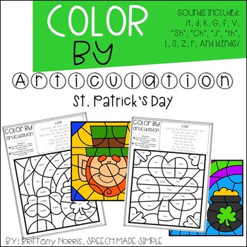 Color by Articulation St. Patrick's Day