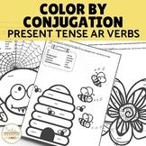 Color by Conjugation- AR Verbs Present Tense