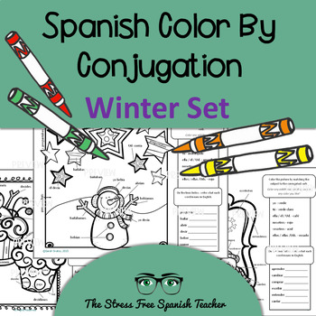 Color by Conjugation, Spanish, 3 Color By Verb activities