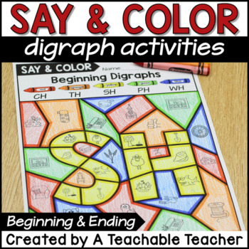 Color by Digraph Activities