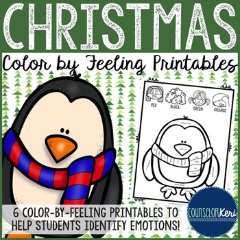Christmas Color by Feeling Printables - Elementary School
