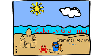 Color by Grammar - Types of Nouns Bundle