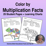 Color by Number Multiplication Facts in No Prep with answer keys
