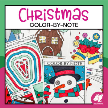 Christmas Color-by-Music Worksheets