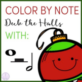 Color by Note Deck the Halls