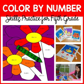 Color by Number #2 (fifth grade) Color by Multiplication a