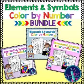 Chemical Elements - Color by Symbols {BUNDLE}