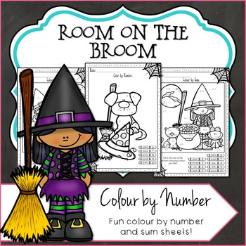 Color by Number, Halloween Room on the Broom