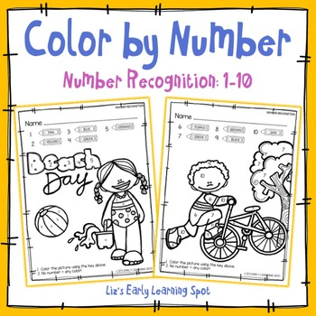 Color by Number: Number Recognition 1-10