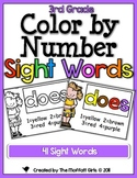 Color by Number Sight Words (3rd Grade Edition)