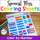 Flags of Spanish-Speaking Countries Coloring Sheets