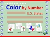 Color by Number U.S. States
