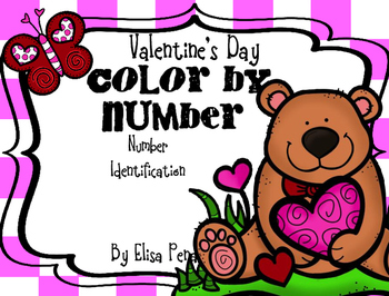 Color by Number: Valentine's Day Freebie