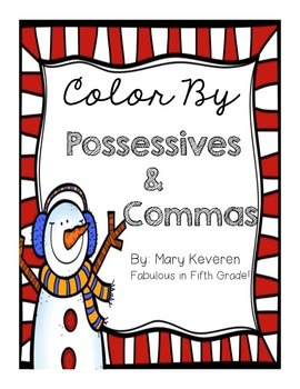 Color by Possessives and Commas