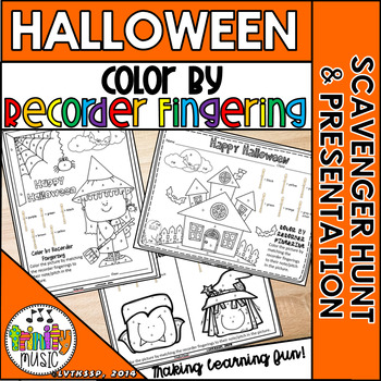Color by Recorder Fingering (Halloween)