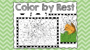Color by Rest - whole, half, quarter, and eighth rest