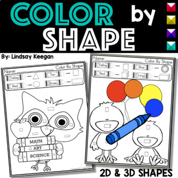 2D and 3D shapes - Color by Shapes