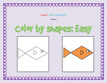 Color by Shapes:  Easy