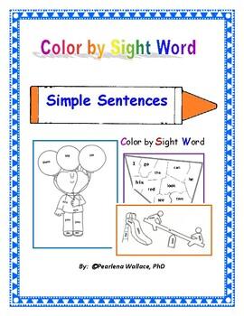 Color by Sight Word NO Prep  Activities Kindergarten & Fir