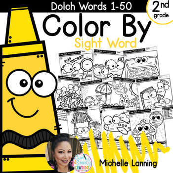 Color by Sight Word *words 1-50*Second Grade