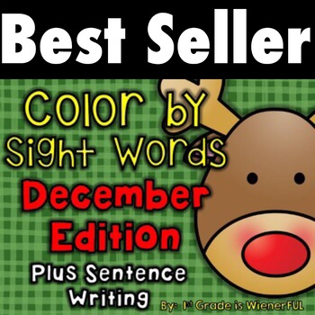 Color by Sight Words ~ December Edition PLUS Sentence Writing