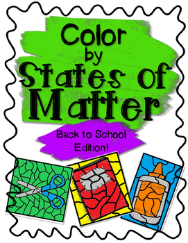 Back to School Color by States of Matter