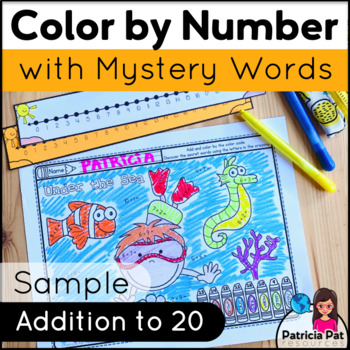 Color by Addition within 20 - FREEBIE