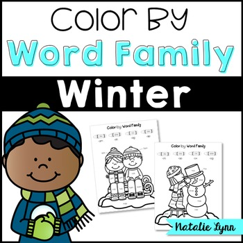 Color by Word Family {Winter}