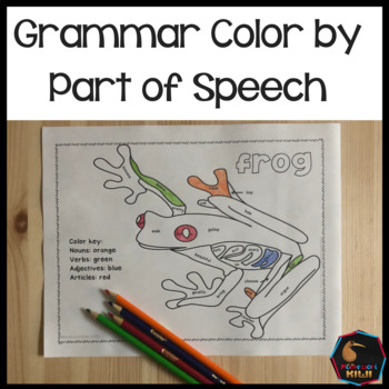 Grammar color by parts of speech activity