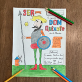 Color by conjugation SER Don Quixote NO PREP Spanish verb