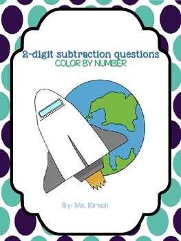 Color by number (2 digit subtraction)